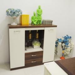 名度家居 现代简约板式烤漆家具 环保双门餐边柜