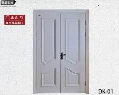 禧赢门 大花线欧式对开门 实木双开门 白色混油木门 大厅门DK-01