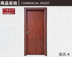禧赢门定制免漆门 套装门 室内门房间生态门木门实木复合门喜庆-4