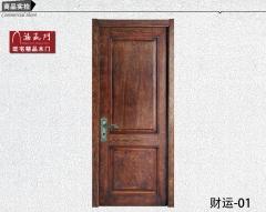 禧赢门室内门房间卧室门实木烤漆门原木水曲柳做旧木门财运-01