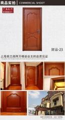 禧赢门烤漆卧室门房门别墅门订做木门外扣线造型实木门财运-23