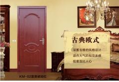 禧赢门木门 烤漆室内门套装门 实木卧室门房门 欧式雕花实木门KM--02
