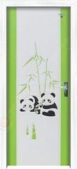 重庆星星竹木复合套装门 艺雕熊猫